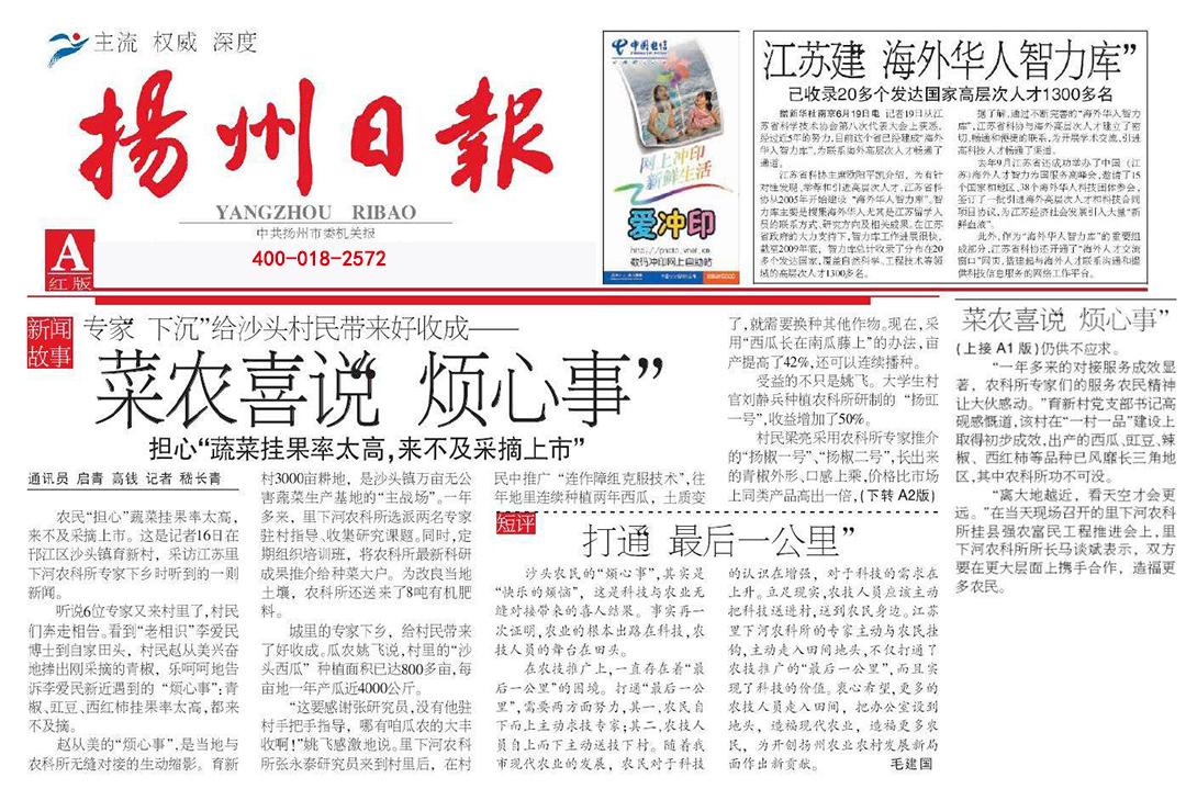 扬州日报登报热线电话