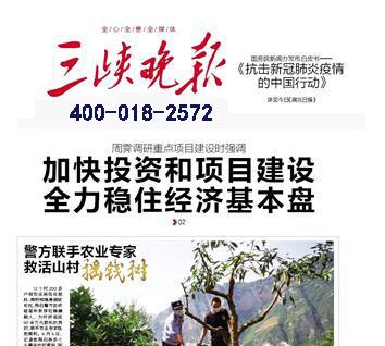 三峡晚报登报中心
