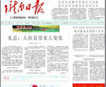 陇南日报登报中心